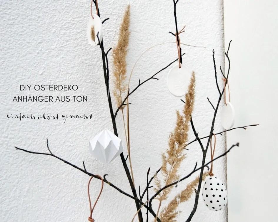 DIY Osterdeko Anhänger aus Ton