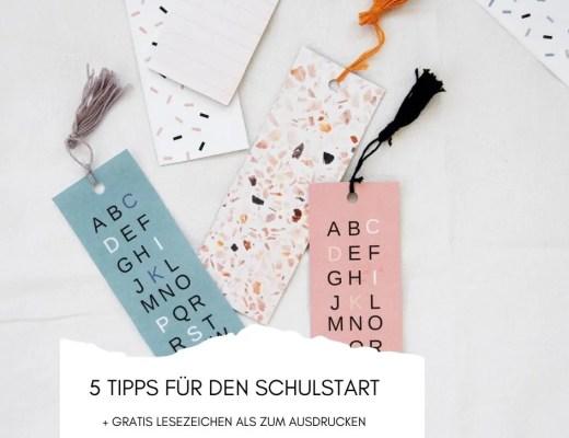 5 Tipps Schulstart Lesezeichen Header