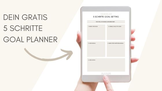 5 Schritte Goal Planner stilles bunt