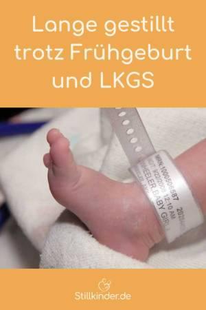 Fuß eines Frühgeborenen
