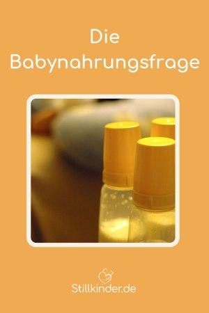 Flaschen mit Babynahrung