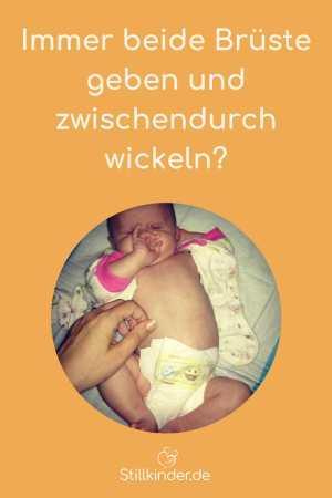 Ein Baby beim Windelwechsel