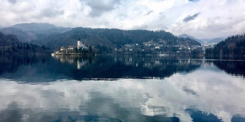 Bled lake scenery