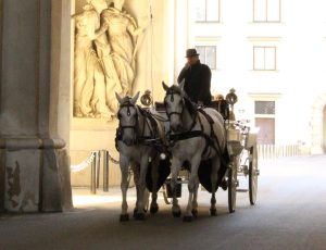 Carriage riding through entrance