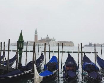 Gondolas along the lagoon