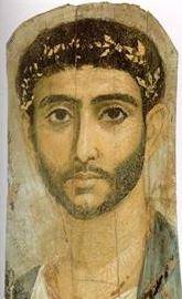 Mummy man face portrait