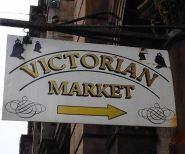Victorian Market Sign