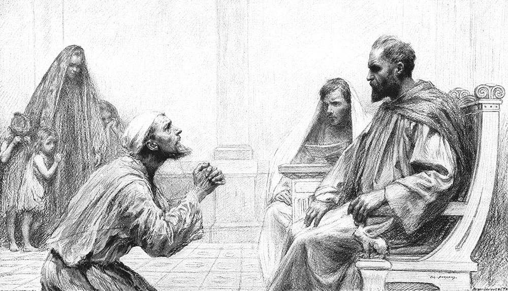 JESUS IN SCRIPTURE PARABLE OF UNFORGIVING SERVANT -