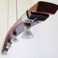 3 Light Kitchen Island Pendant Epoxy Countertops Saba, Recycled Wine Barrel Stave Light, ...
