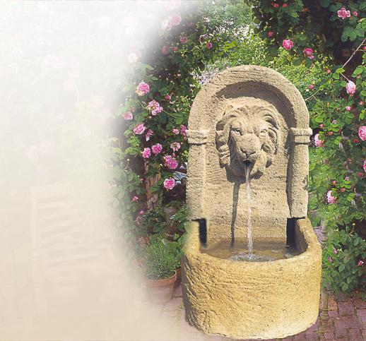 Antike  historische Brunnen fr den Garten  Stein  Sandstein  Naturstein  Design  Balkon