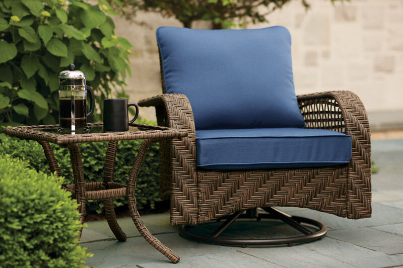 living accents brown steel charleston swivel chair