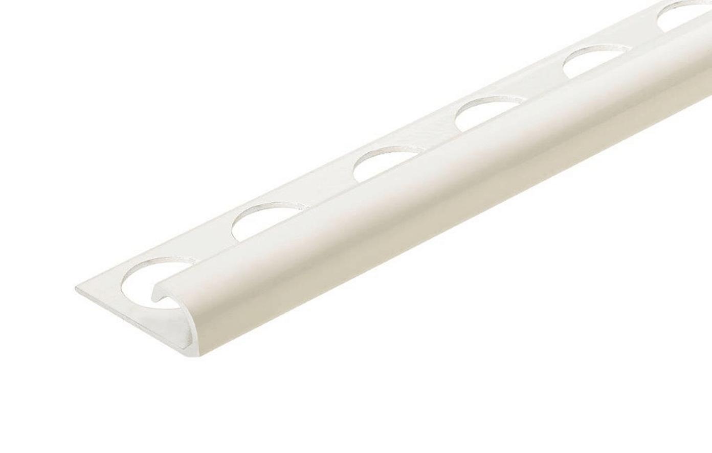 bright white 3 8 in aluminum r round bullnose tile edging trim