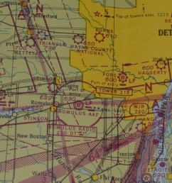 stinson field is just south and a little west of wayne mi what is shown as romulus army air forces aaf is now called detroit metropolitan wayne  [ 1200 x 715 Pixel ]
