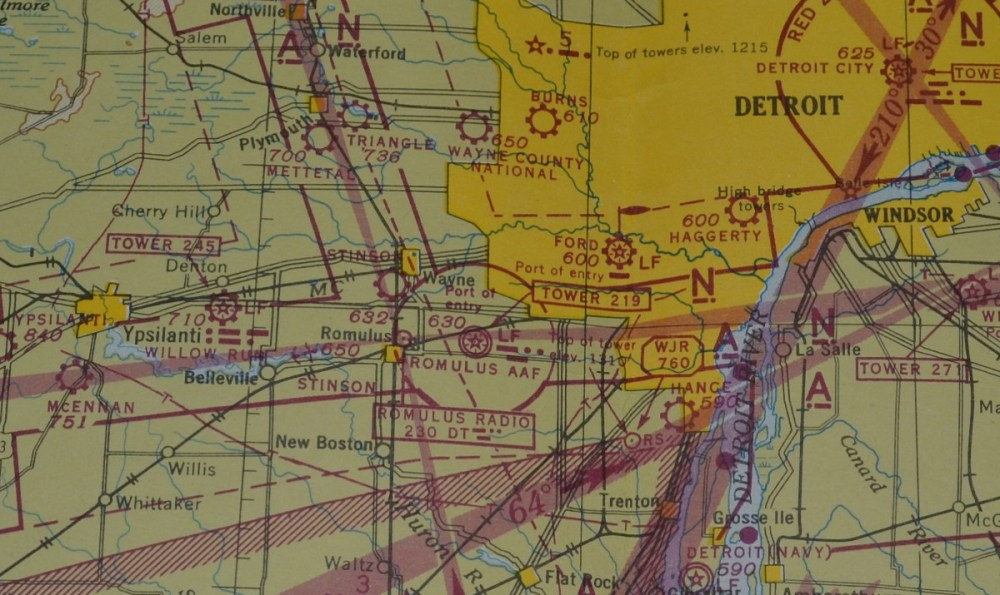 medium resolution of  stinson field is just south and a little west of wayne mi what is shown as romulus army air forces aaf is now called detroit metropolitan wayne