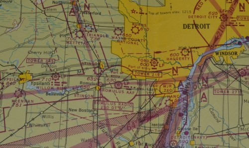 small resolution of  stinson field is just south and a little west of wayne mi what is shown as romulus army air forces aaf is now called detroit metropolitan wayne