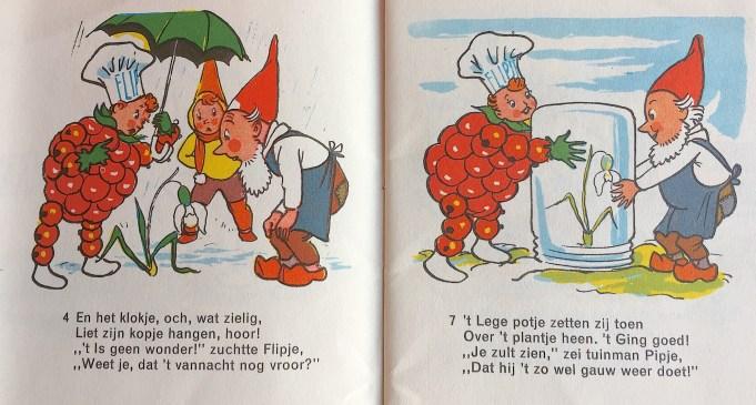 Eelco ten Harmsen van der Beek / Freddie Langeler, Flipje, Fruitbaasje van Tiel, Het Sneeuwklokje, Deventer (Drukkerij De IJssel), 1955.