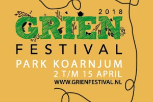 Grien Festival, Martenastate Koarnjum, 2 t/m 15 april.