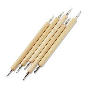 Set van 5 stk Houten Stip pennen