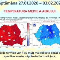 Prognoza meteo Romania 27 Ianuarie - 24 Februarie 2020 Romania #iarna ANM