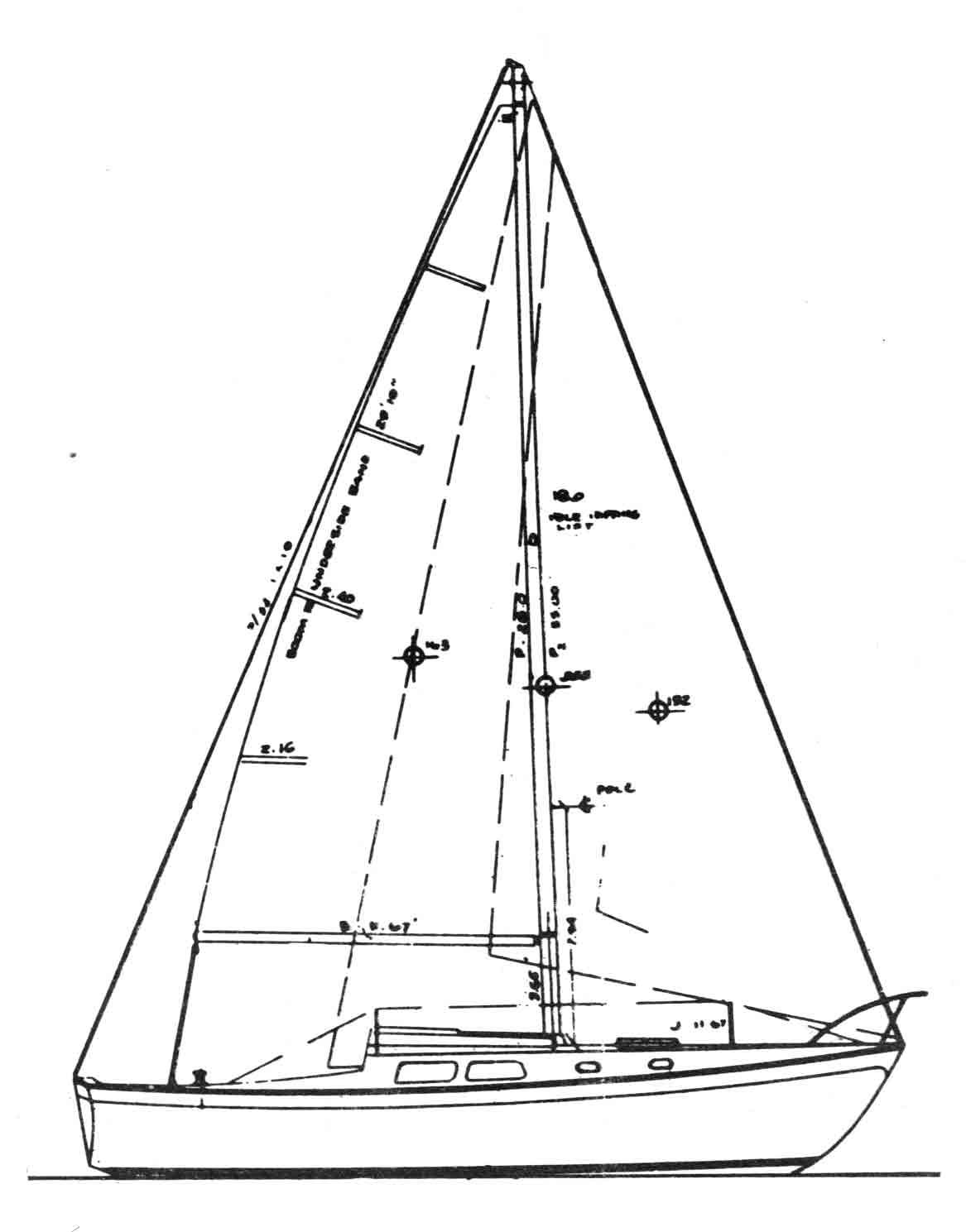 Cal 34 Sailboat from Jensen Marine