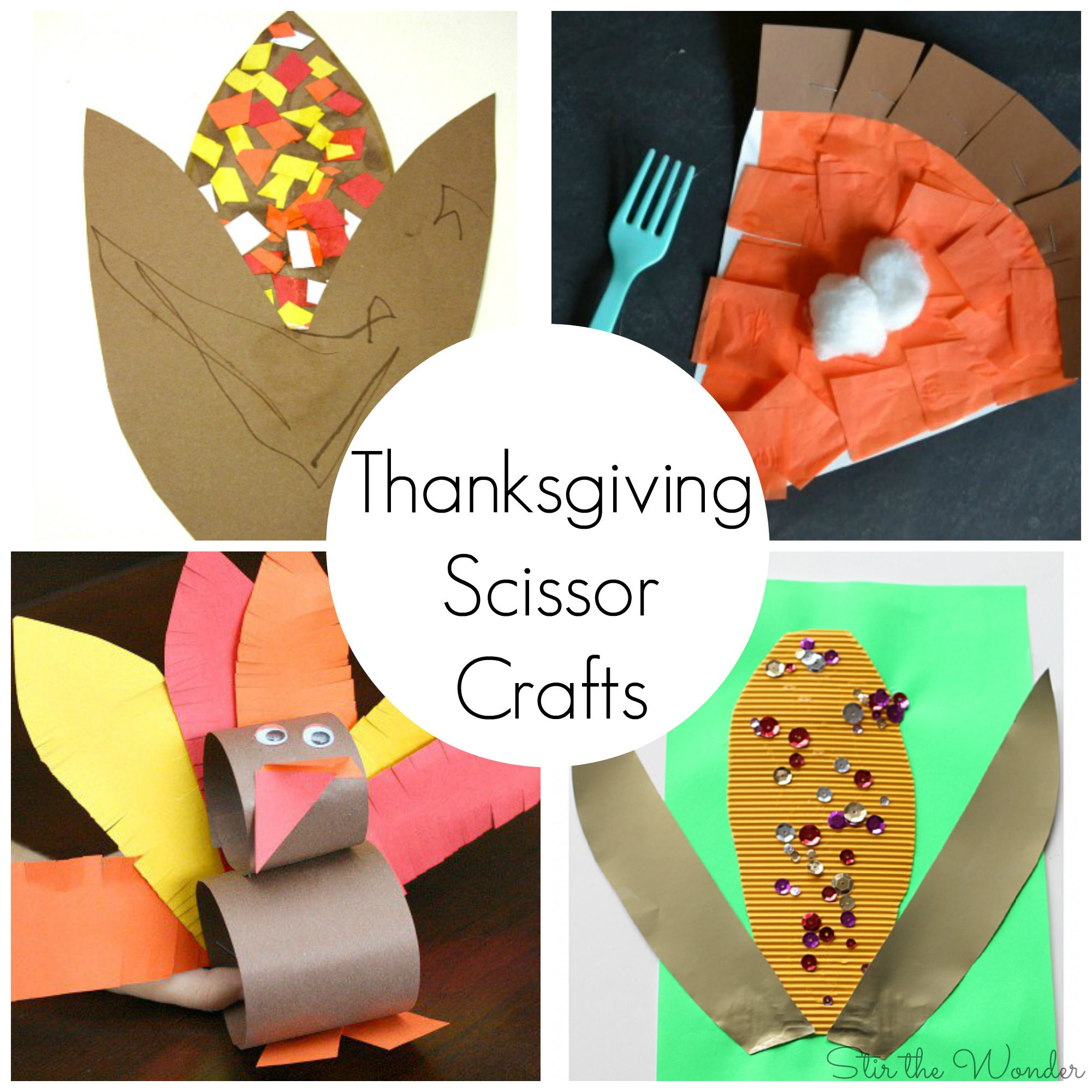 Thanksgiving Scissor Crafts For Preschoolers