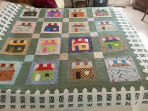Nancy's House Quilt with Picket Fence