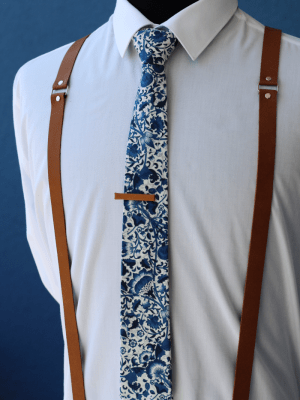 Brown Leather Braces Suspenders Made in New Zealand