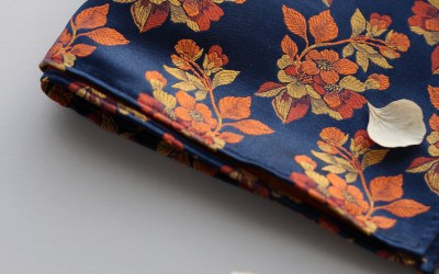 Burnt Orange and Navy Bow Ties from Pocket Square