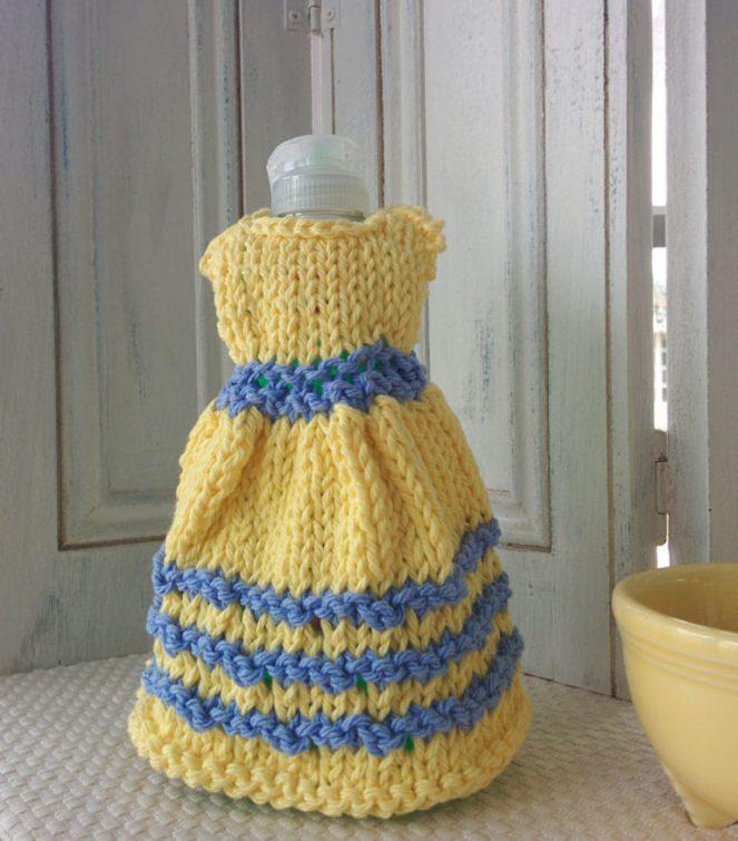 knit dress dishcloth