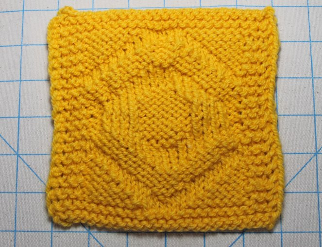 April Sunshine Knit Block