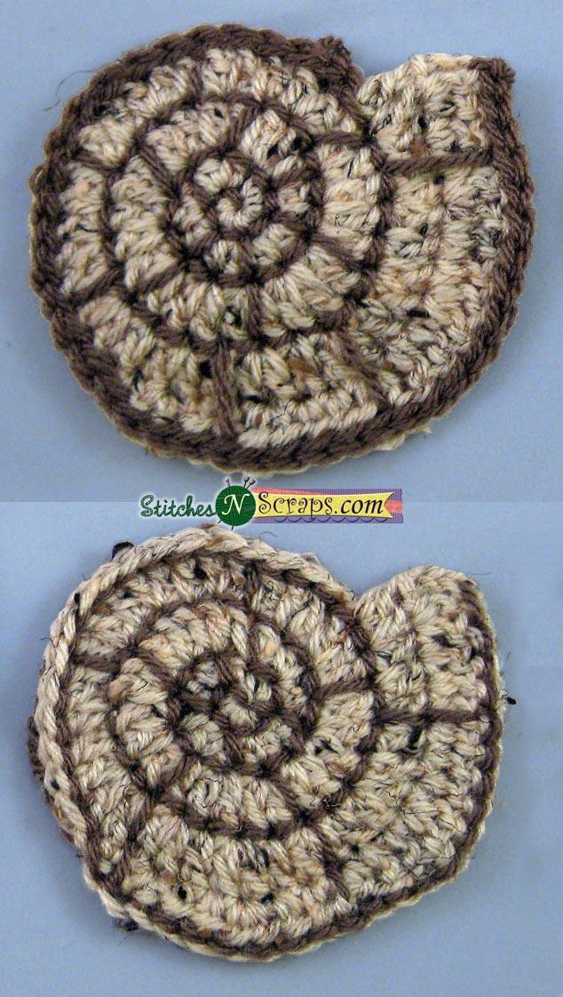 Free Pattern Spiral Seashell Motif Stitches N Scraps