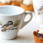 Set of 4 Chickadee Espresso Cups