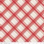 Red Plaid Fabric Riley Blake Designs C3845