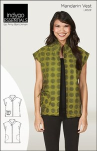 Indygo Essentials Mandarin Vest Sewing Pattern