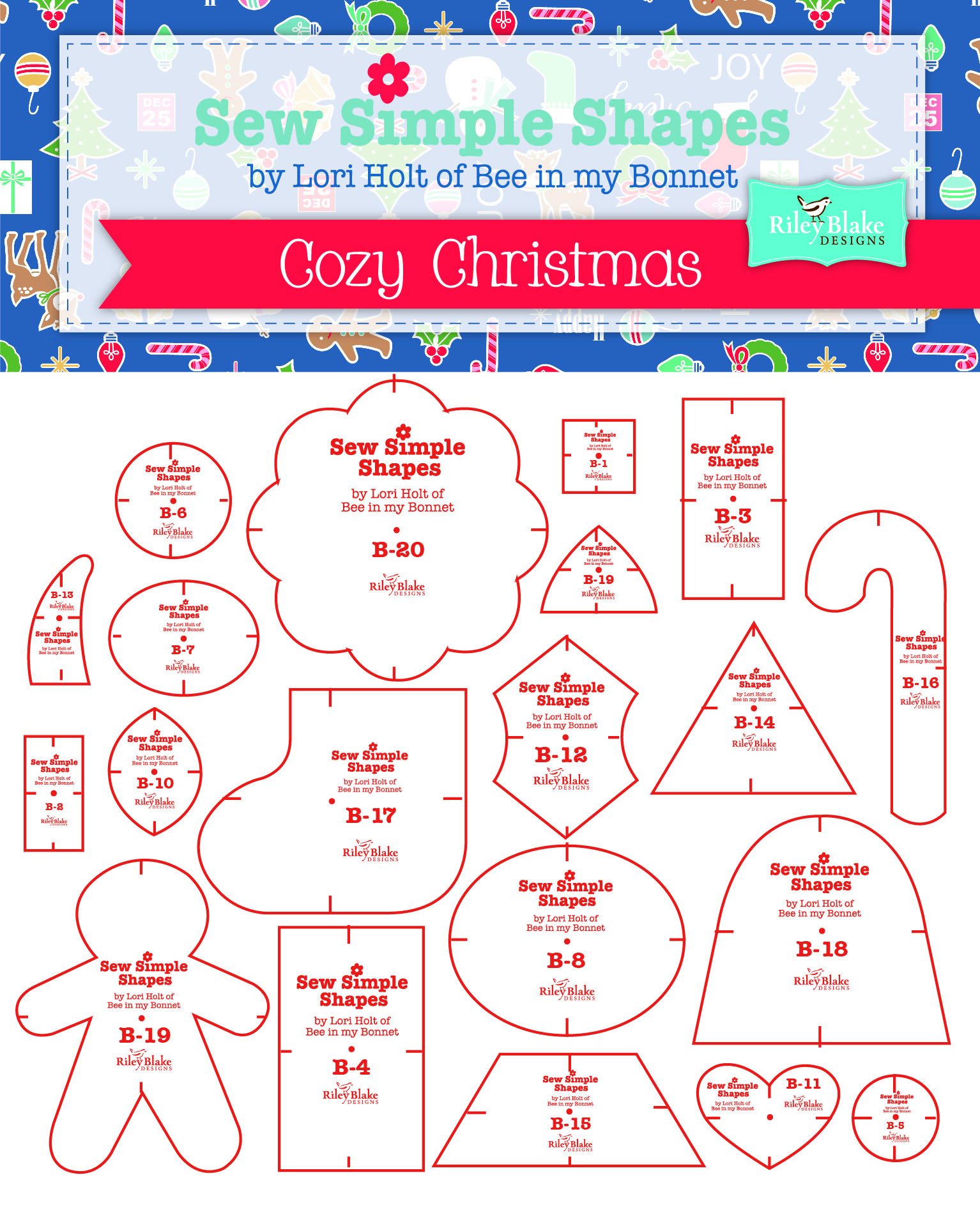 Sew Simple Christmas Template Rulers Lori Holt • Stitches ...