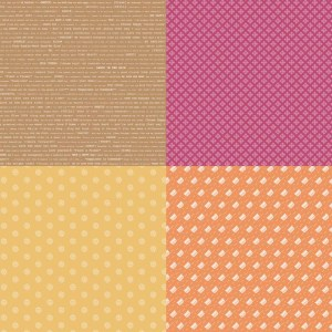 Riley Blake Lori Holt Modern Minis FQP 4761 Orange
