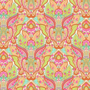 The Hare Orange Crush Tula Pink Slow and Steady Free Spirit Fabrics PWTP084y