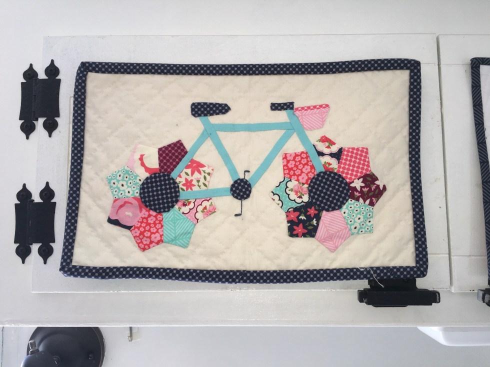 Posy Garden Mini Bicycle Quilt