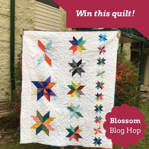 Blossom Blog Hop Quilt Giveaway