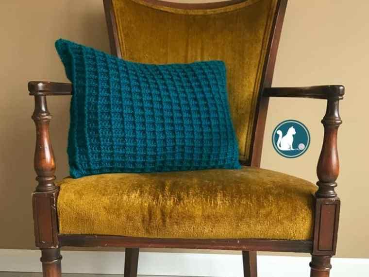 Shadow Box Pillow Cover - free crochet pattern
