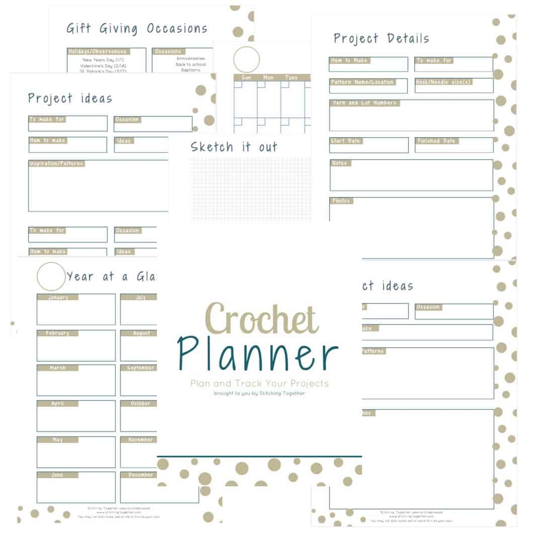 What an amazing Crochet Planner. Can you believe it is a free download? Now I can finally track my projects, hooks and patterns. There's even a gift giving guide to help me plan ahead for birthdays and Christmas.