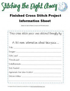 FinishedProjectInfoSheet