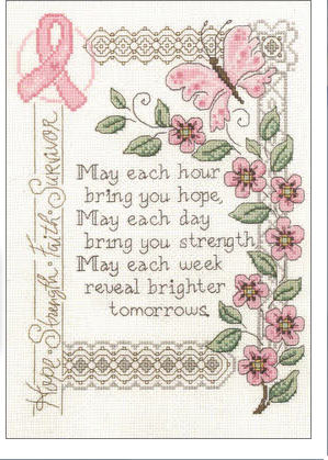 brighter tomorrows breast cancer cross stitch pattern