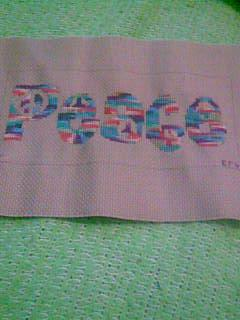 Peace Freebie Cross Stitched by Emily