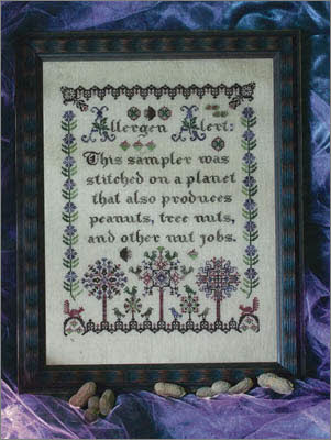 Nut Jobs Ink Circles Cross Stitch Sampler
