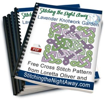 Lavender Knotwork Garden free cross stitch pattern