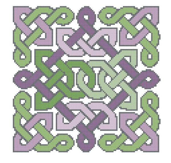 knotwork garden free cross stitch pattern (preview of design)