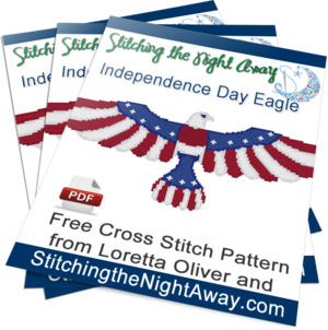 IndependenceDayEagle Free Cross Stitch Pattern