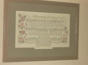Amazing Grace Janlynn Kit Stitched by Joy