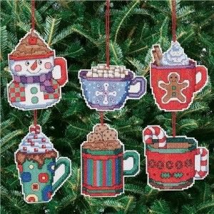 Janlynn Hot Cocoa Ornament Cross Stitch Kit